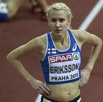 Sandra Eriksson EM-halleissa 2015