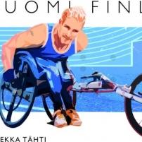 Paralympiavoittaja Leo-Pekka Tähti suomalaisessa postimerkissä.