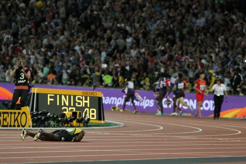 Usain Bolt GBR juhlat 4x100