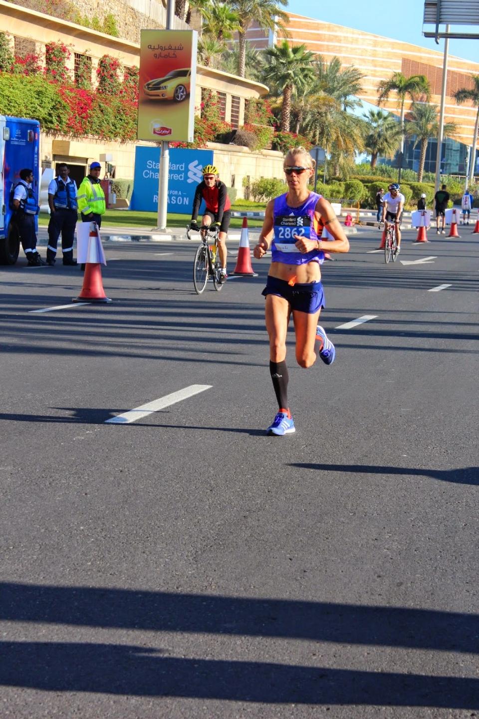 Anne-Mari Hyryläinen Dubain maratonilla v.2015