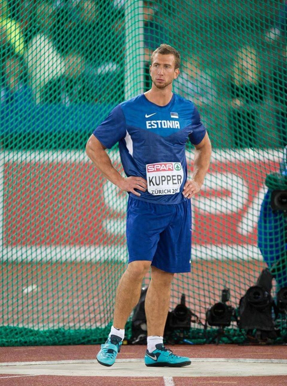 Martin Kupper Zürichin EM-kilpailuissa v. 2014