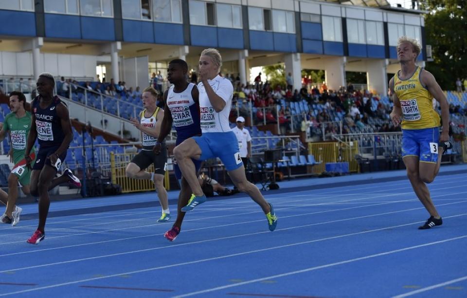 Samuli Samuelsson 100m 22v EM