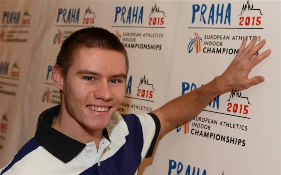 Pavel Maslák Prahan EM-kilpailuissa v. 2015