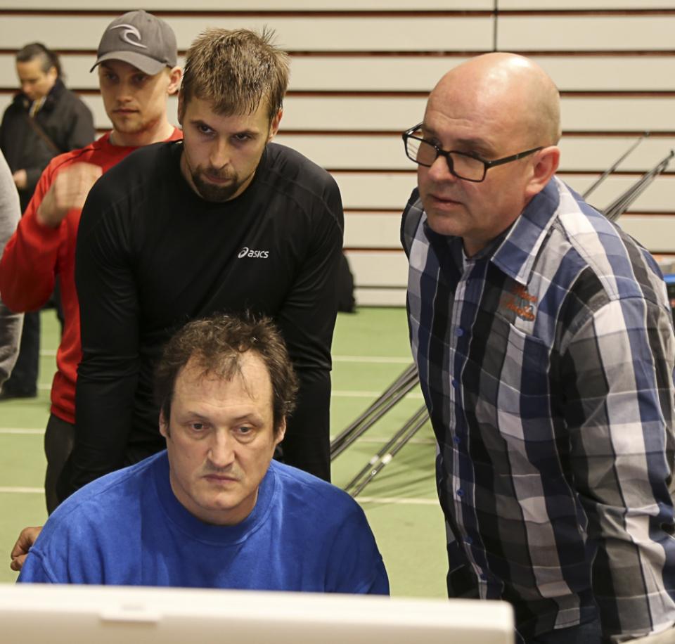 Antti Ruuskanen, Kimmo Kinnunen ja Jarmo Hirvonen