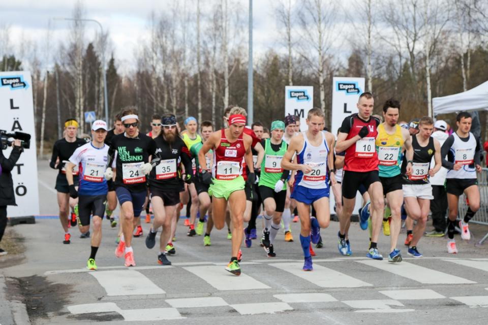 SM-maantiejuoksu 2017 Espoo
