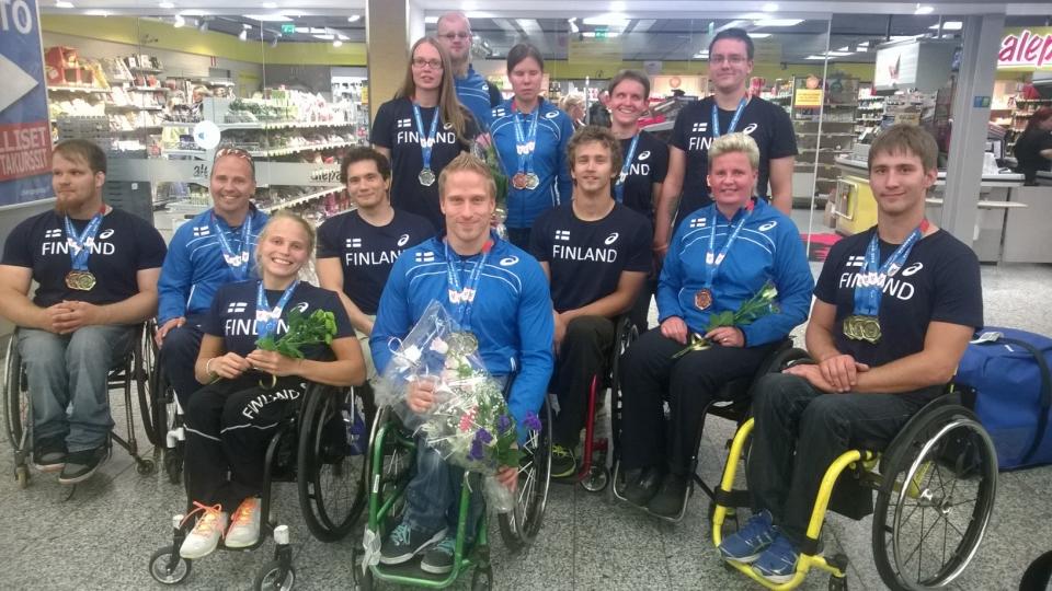 Vammaisyleisurheilun menestyjän Swansea 2014
