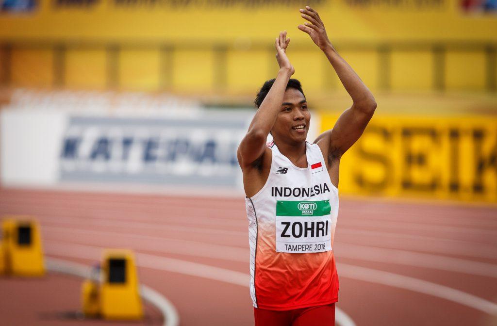 Zohri Indonesian ennätyksellä satasen voittoon
