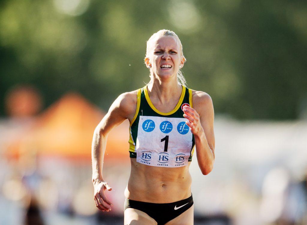 Sandra Eriksson juoksi Tukholmassa ennätyksensä