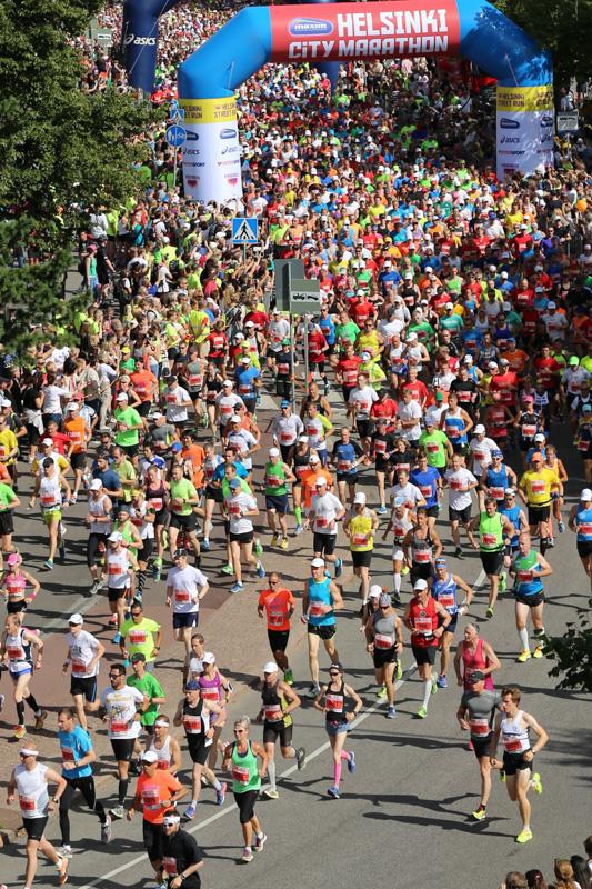 Helsinki City Marathonilla osanottajia 73:ta eri maasta