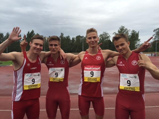Tampereen Pyrintö 4x400 metrin kuningas