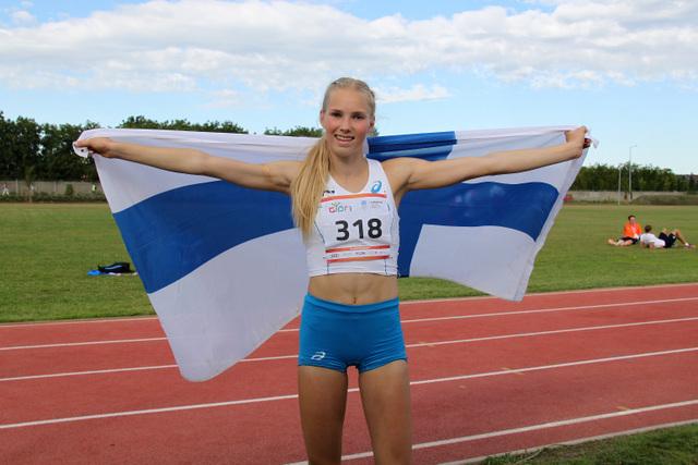 Jessica Kähärä jatkoi suomalaisten mitaliputkea EYOF-kilpailuissa