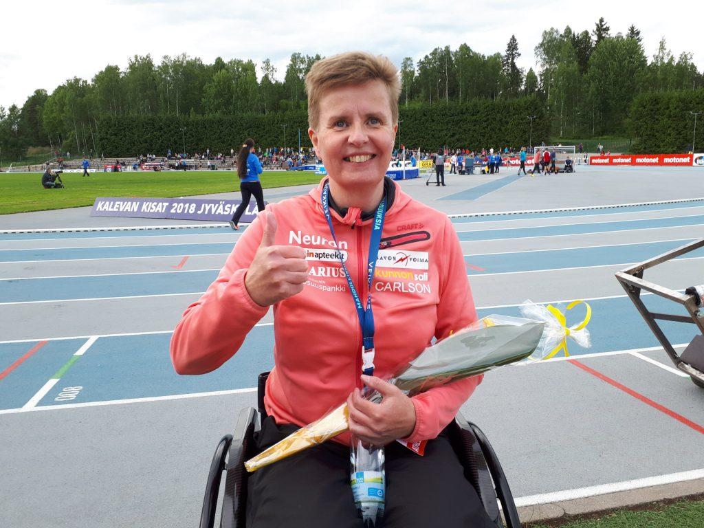 Tuuli vaikutti Marjaana Heikkisen heittoihin parayleisurheilun gp-kilpailuissa Berliinissä
