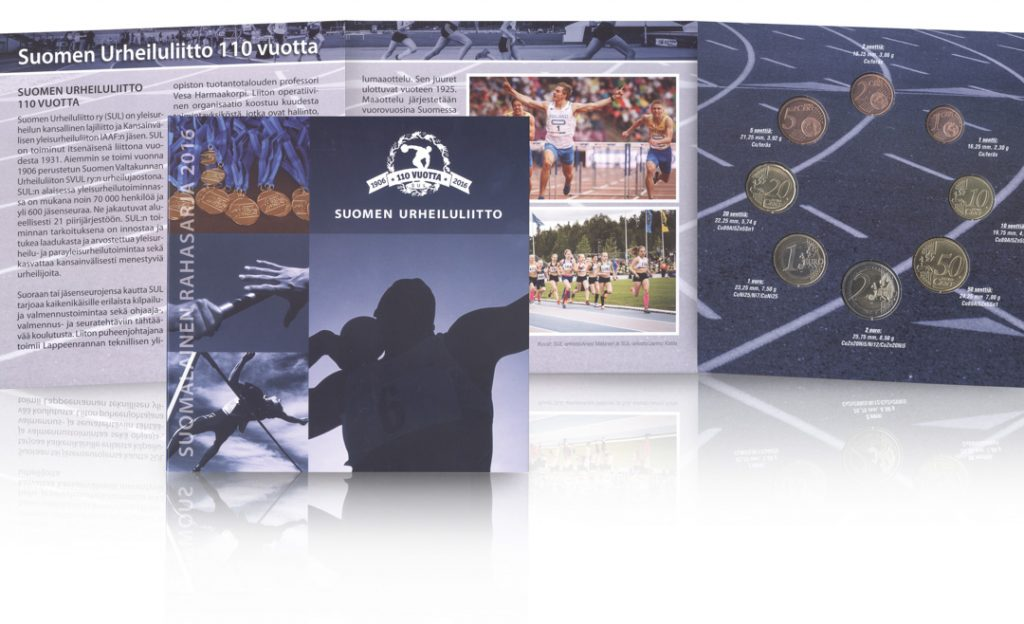 Tarjolla erikoisrahasarja Suomen Urheiluliitto 110 vuotta