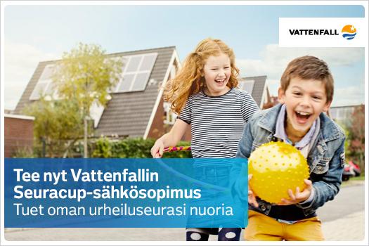 Tee nyt Vattenfallin Seuracup-sähkösopimus! - Tuet urheiluseurasi nuoria!