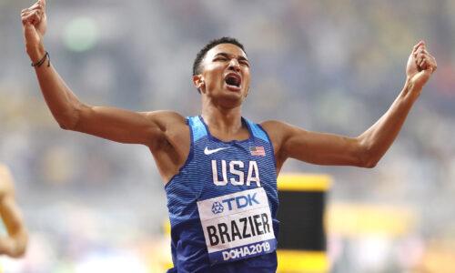 Maailmanmestari Donavan Brazier juoksi Amerikan ennätyksen