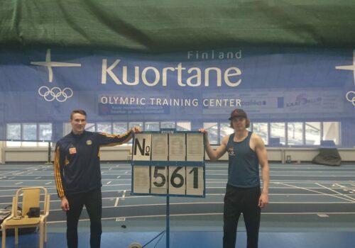 Holttinen ja Paavola avasivat kilpailukauden ennätyksellä – Alasaari taivutti 19-vuotiaiden halli-SE:n